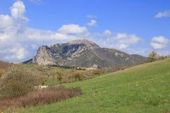 比加拉什在Corbieres,法国峰顶  库存照片