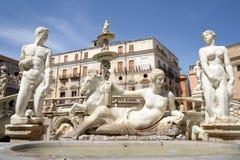 比勒陀利亚喷泉在巴勒莫 库存图片