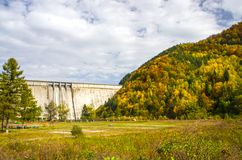 比卡兹水坝在罗马尼亚 免版税库存照片