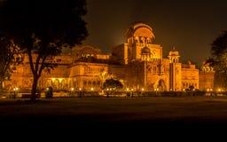 比卡内尔宫殿在夜之前 免版税库存图片