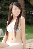 比基尼泳装女孩 图库摄影