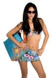 比基尼泳装性感的拉提纳 库存图片