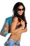 比基尼泳装性感的拉提纳 免版税库存照片