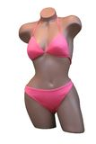 比基尼泳装时装模特粉红色 免版税库存图片