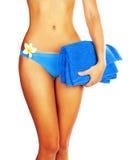 比基尼泳装机体理想的妇女 库存照片