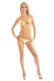 比基尼泳装的性感的女孩 免版税图库摄影