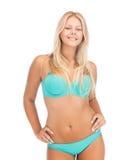 比基尼泳装的美丽的女孩 免版税库存照片