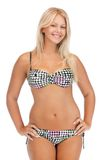 比基尼泳装的美丽的妇女 免版税库存图片
