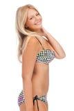 比基尼泳装的美丽的妇女 库存图片