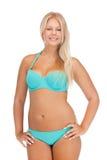 比基尼泳装的美丽的妇女 免版税库存照片