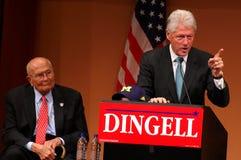 比尔・克林顿dingell前约翰总统 免版税库存图片