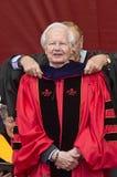 比尔莫耶斯出席250th周年拉特格斯Universary开始 免版税库存照片