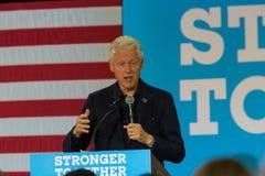 比尔・克林顿总统讲话在宾夕法尼亚 免版税库存图片