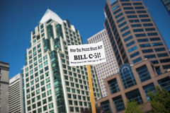 比尔C-51 (反恐怖主义行动)抗议在温哥华 免版税库存图片
