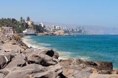 比尼亚德尔马,瓦尔帕莱索地区在智利 免版税库存照片