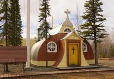 比弗河的一个迷人的教会 免版税库存照片