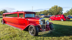 1930年比德旧车改装的高速马力汽车大型高级轿车 免版税库存图片