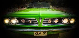 比德暴风雨勒芒1963双门敞篷车葡萄酒汽车 免版税图库摄影
