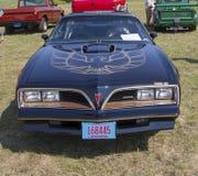1977年比德Trans上午Firebird黑色汽车 免版税库存图片