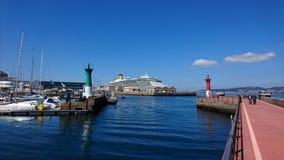 比戈,加利西亚港 免版税图库摄影