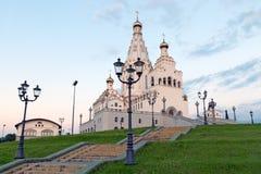 比拉罗斯大教堂米斯克白色 库存图片