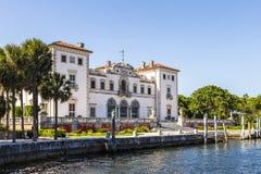 比斯卡亚博物馆和庭院在迈阿密,佛罗里达 免版税库存图片