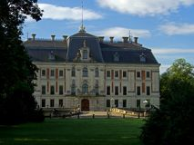 比斯城堡,波兰 库存图片