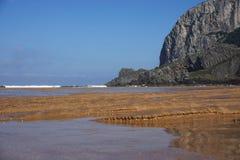比斯开湾海岸在西班牙 图库摄影