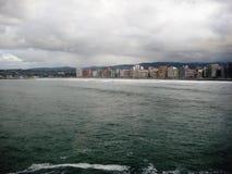 比斯开湾, Gijon,西班牙 库存图片