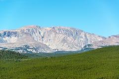 比格霍恩峰顶视图 库存图片