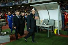 比森特・德尔・博斯克,西班牙的国家橄榄球队的教练 免版税库存照片