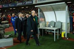 比森特・德尔・博斯克,西班牙的国家橄榄球队的教练 库存照片