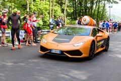 比耶拉,意大利- 2017年5月20日:转帐服务d `意大利Castel第14个阶段  免版税库存照片