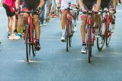 比耶拉,意大利- 2017年5月20日:骑自行车者参加第14个s 库存照片