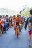 比耶拉,意大利- 2017年5月20日:骑自行车者参加第14个s 免版税图库摄影