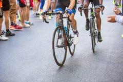 比耶拉,意大利- 2017年5月20日:骑自行车者参加第14个s 库存图片