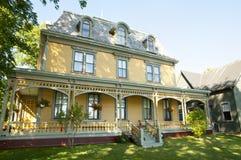 比肯斯菲尔德历史的家的夏洛特敦-加拿大 图库摄影