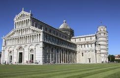 比萨和大教堂,托斯卡纳,意大利斜塔  库存图片