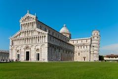 比萨大教堂和塔在天之前 免版税库存图片