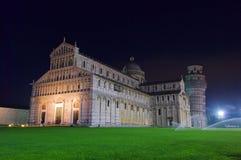 比萨大教堂晚上 库存图片