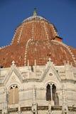 比萨大教堂的洗礼池  免版税库存图片