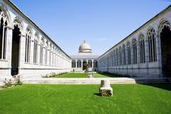 比萨巨大的公墓  库存照片