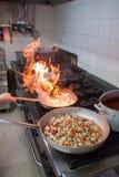 比萨店厨房 免版税库存照片