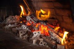 比萨店木柴烤箱 库存照片