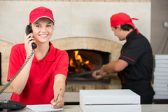 比萨店 免版税库存照片