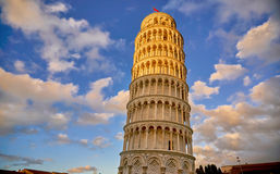 比萨意大利,比萨斜塔 免版税图库摄影