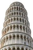 比萨斜塔在白色背景隔绝了 库存照片