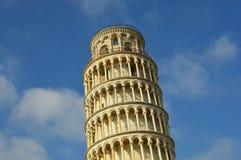 比萨斜塔,一座美妙的中世纪纪念碑,一最著名的地标在意大利 图库摄影