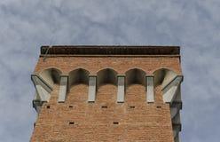 比萨的Torre Guelfa上面  免版税库存图片