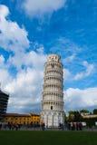 比萨著名斜塔在期间 免版税库存照片